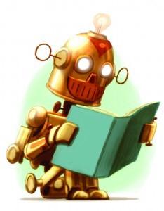 Robot leyendo
